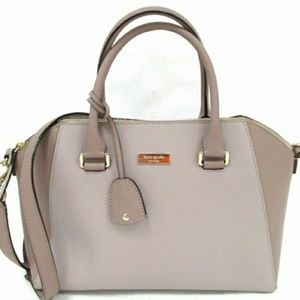 Kate Spade NY Dome Zip Leather Satchel Purse